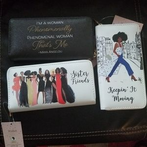 Inspirational wallets, mirrors  and business card.